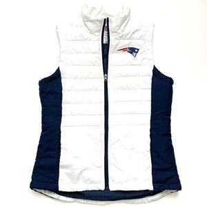 Patriots White Down Vest